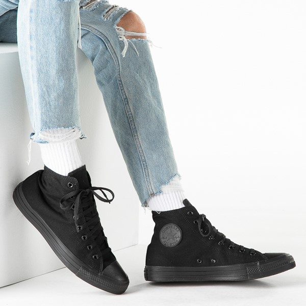 alternate image alternate view Converse Chuck Taylor All Star Hi Sneaker - Black MonochromeB-LIFESTYLE1