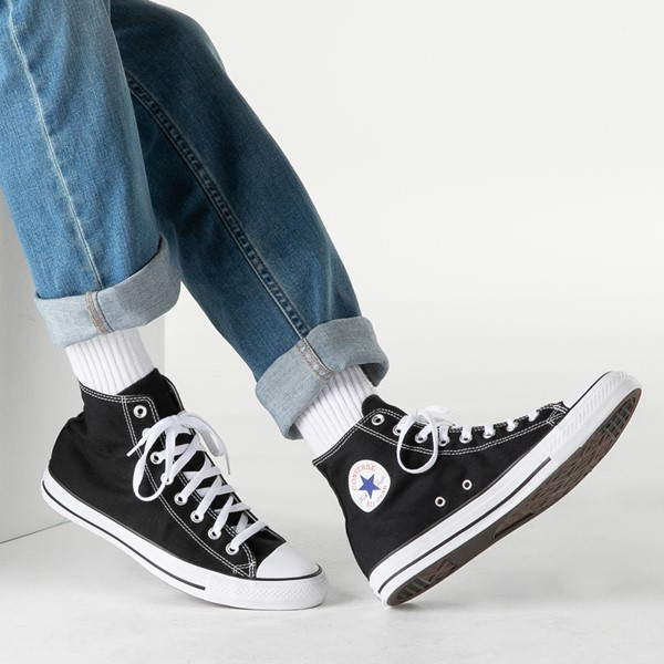 alternate image alternate view Converse Chuck Taylor All Star Hi Sneaker - BlackB-LIFESTYLE1