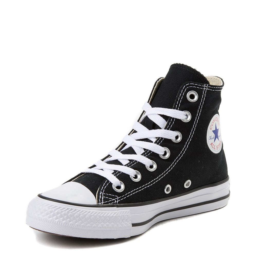 converse black and white high tops