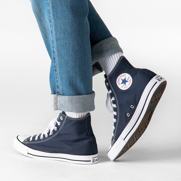 alternate image alternate view Converse Chuck Taylor All Star Hi Sneaker - NavyB-LIFESTYLE1