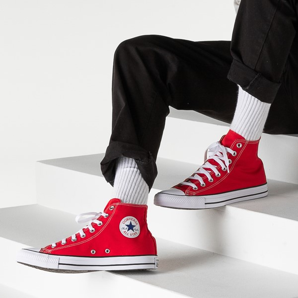 alternate image alternate view Converse Chuck Taylor All Star Hi Sneaker - RedB-LIFESTYLE1