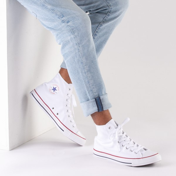 alternate image alternate view Converse Chuck Taylor All Star Hi Sneaker - Optical WhiteB-LIFESTYLE1