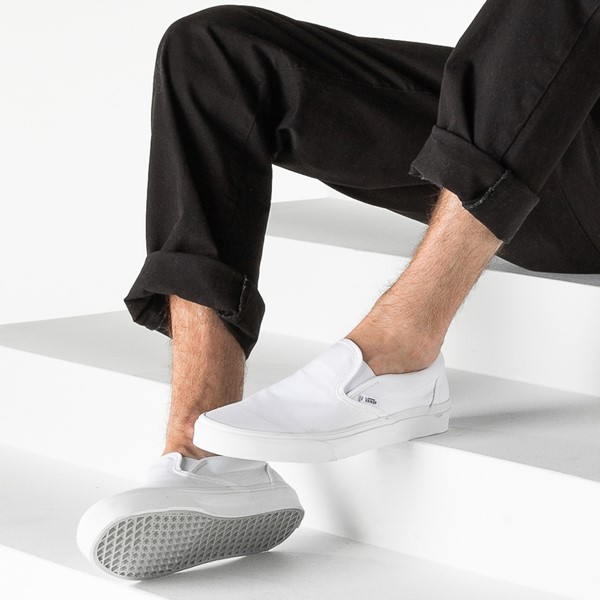 alternate image alternate view Vans Slip On Skate Shoe - WhiteB-LIFESTYLE1
