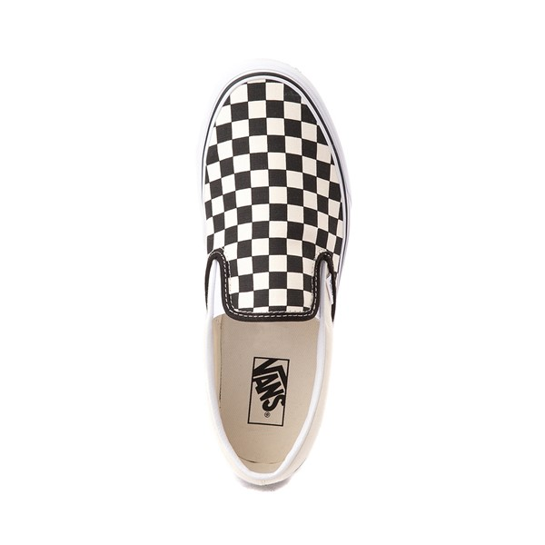 alternate image alternate view Vans Slip On Checkerboard Skate Shoe - Black / WhiteALT2
