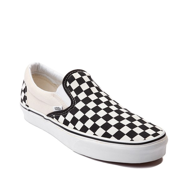 alternate image alternate view Vans Slip On Checkerboard Skate Shoe - Black / WhiteALT5