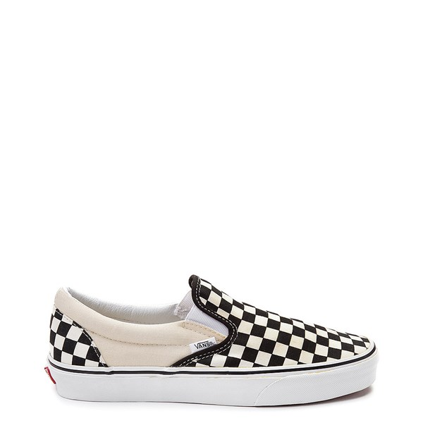 Vans Slip On Chex Skate Shoe - Black / White