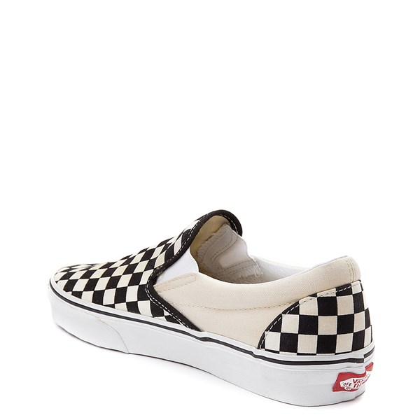 alternate image alternate view Vans Slip On Chex Skate Shoe - Black / WhiteALT2