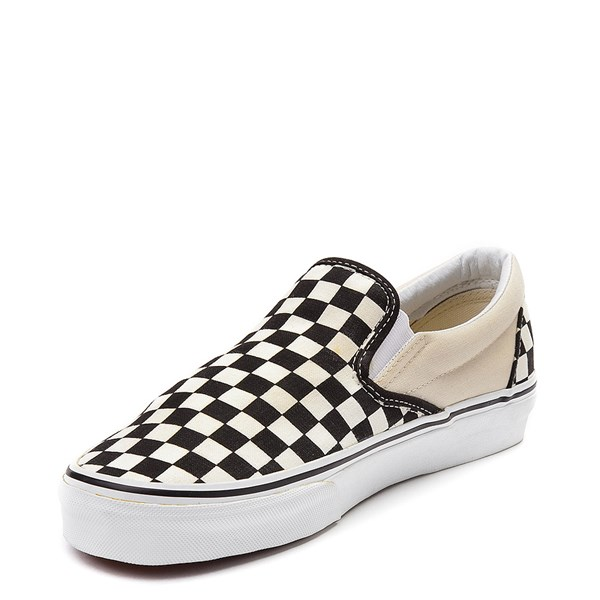 alternate image alternate view Vans Slip On Chex Skate Shoe - Black / WhiteALT3