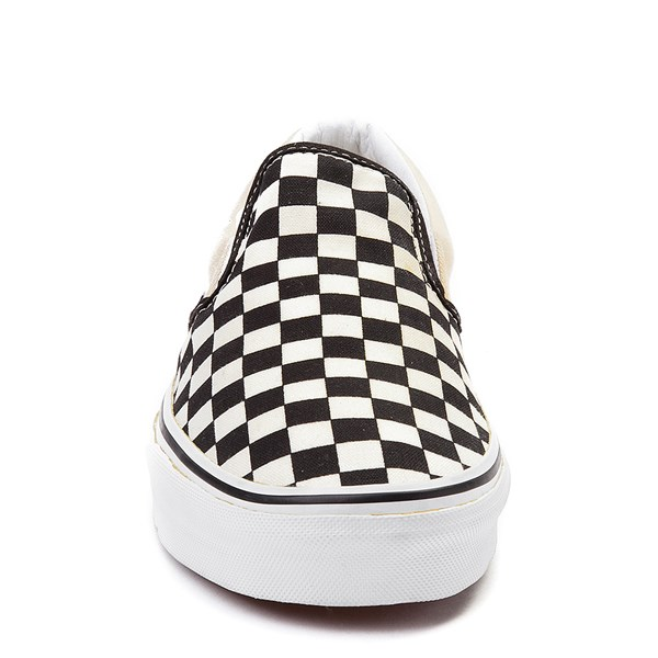 alternate image alternate view Vans Slip On Chex Skate Shoe - Black / WhiteALT4
