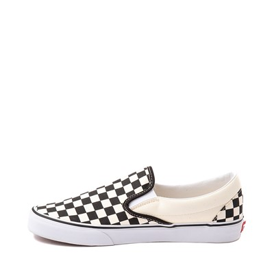 Alternate view of Vans Slip On Checkerboard Skate Shoe - Black / White
