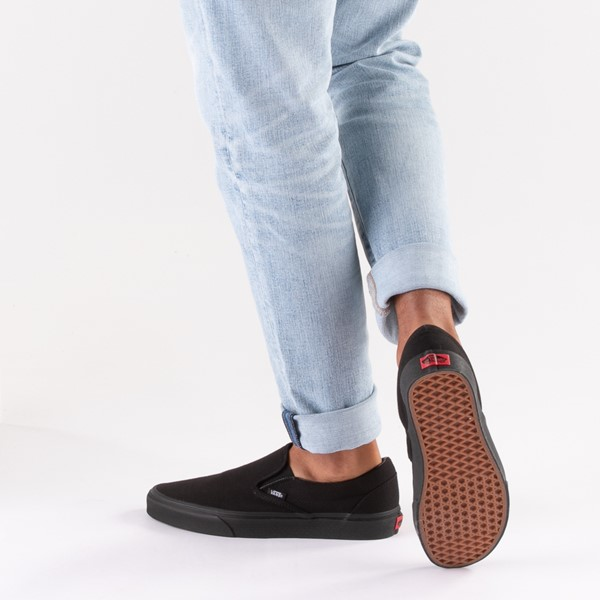 alternate image alternate view Vans Slip On Skate Shoe - BlackB-LIFESTYLE1