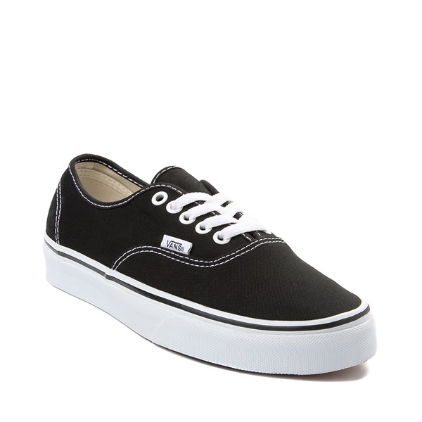 alternate image alternate view Vans Authentic Skate Shoe - Black / WhiteALT5