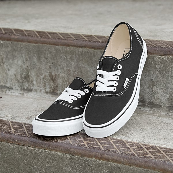alternate image alternate view Vans Authentic Skate Shoe - Black / WhiteALT7
