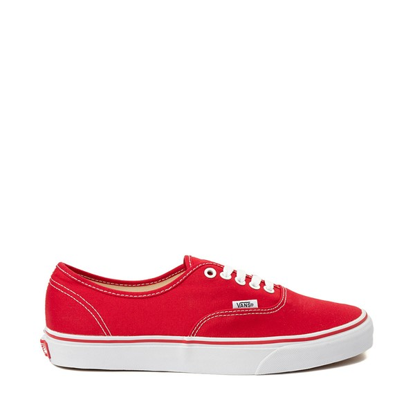 Main view of Vans Authentic Skate Shoe - Red / White
