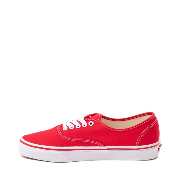 alternate image alternate view Vans Authentic Skate Shoe - Red / WhiteALT1