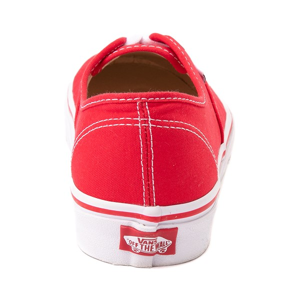 alternate image alternate view Vans Authentic Skate Shoe - Red / WhiteALT4