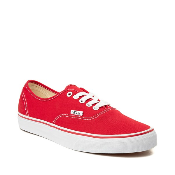 alternate image alternate view Vans Authentic Skate Shoe - Red / WhiteALT5