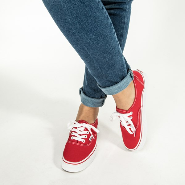 alternate image alternate view Vans Authentic Skate Shoe - Red / WhiteALT6