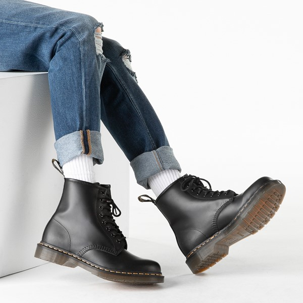 alternate image alternate view Mens Dr. Martens 1460 8-Eye Nappa Boot - BlackB-LIFESTYLE1