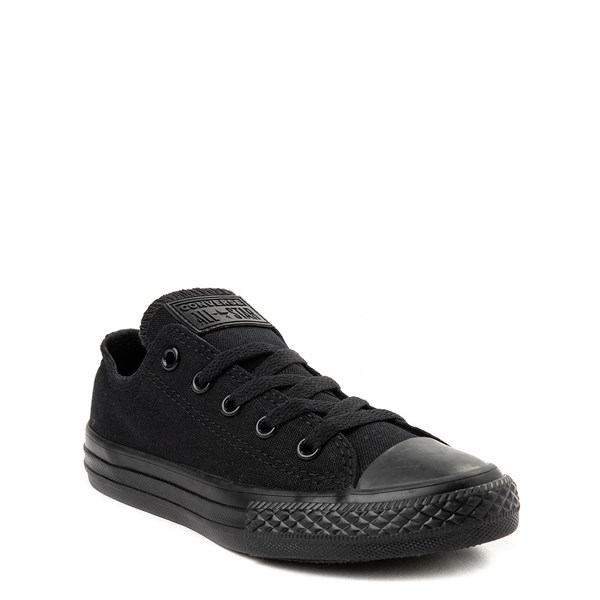 alternate image alternate view Converse Chuck Taylor All Star Lo Sneaker - Little Kid - Black MonochromeALT1