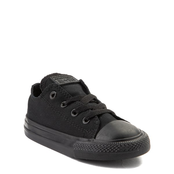 alternate image alternate view Converse Chuck Taylor All Star Lo Sneaker - Baby / Toddler - Black MonochromeALT1