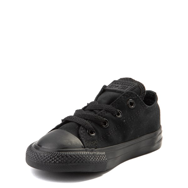 alternate image alternate view Converse Chuck Taylor All Star Lo Sneaker - Baby / Toddler - Black MonochromeALT3