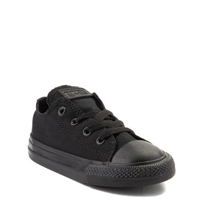 Alternate view of Converse Chuck Taylor All Star Lo Sneaker - Baby / Toddler - Black Monochrome