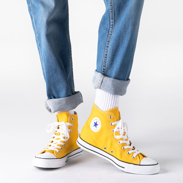 alternate image alternate view Converse Chuck Taylor All Star Hi Sneaker - LemonB-LIFESTYLE1