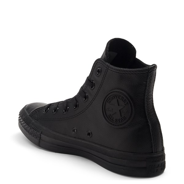 alternate image alternate view Converse All Star Hi Leather Sneaker - Black MonochromeALT2