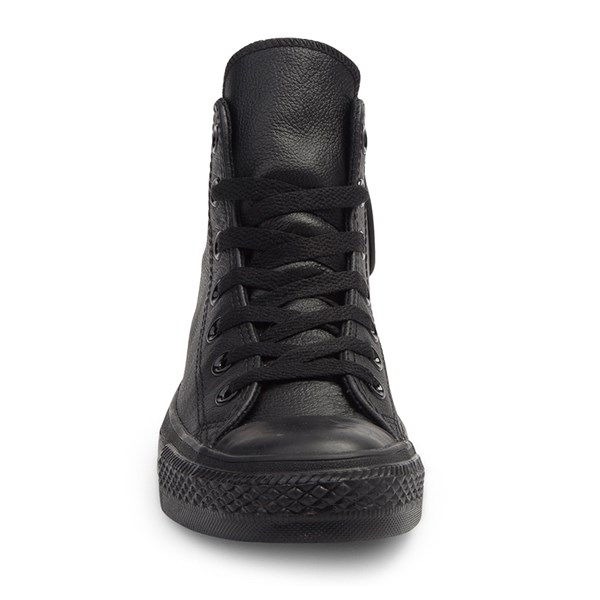 alternate image alternate view Converse All Star Hi Leather Sneaker - Black MonochromeALT4
