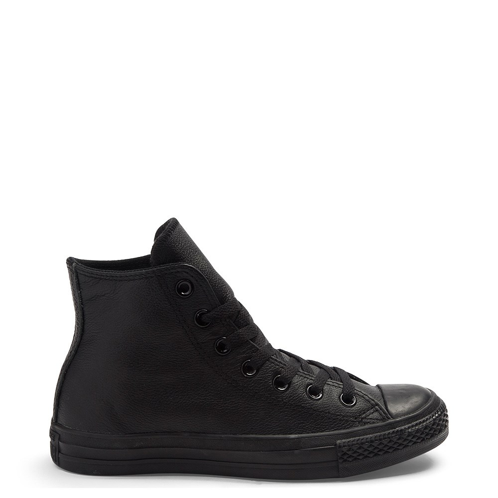 Converse All Star Hi Leather Sneaker - Black Monochrome