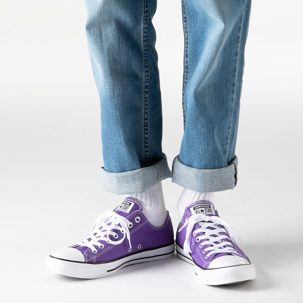 alternate image alternate view Converse Chuck Taylor All Star Lo Sneaker - Electric PurpleB-LIFESTYLE1