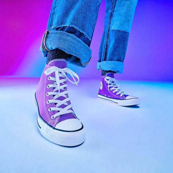 alternate image alternate view Converse Chuck Taylor All Star Hi Sneaker - Electric PurpleALT1B