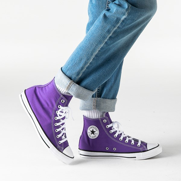 alternate image alternate view Converse Chuck Taylor All Star Hi Sneaker - Electric PurpleB-LIFESTYLE1