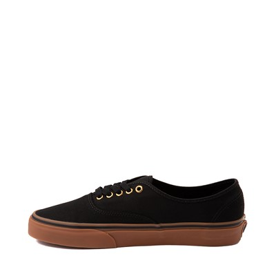 Alternate view of Vans Authentic Skate Shoe - Black / Gum