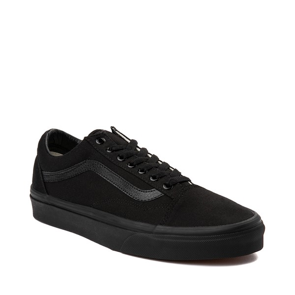 alternate image alternate view Vans Old Skool Skate Shoe - Black MonochromeALT5