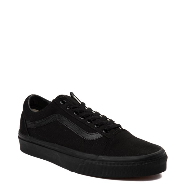 alternate image alternate view Vans Old Skool Skate Shoe - Black MonochromeALT1