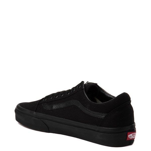 alternate image alternate view Vans Old Skool Skate Shoe - Black MonochromeALT3