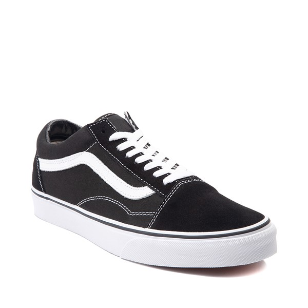 alternate image alternate view Vans Old Skool Skate Shoe - Black / WhiteALT5