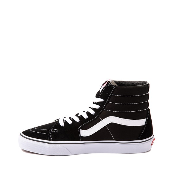 alternate image alternate view Vans Sk8 Hi Skate Shoe - Black / WhiteALT1