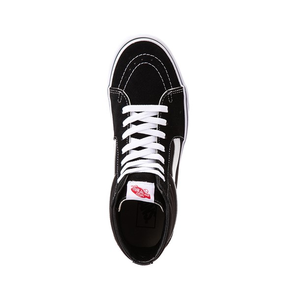alternate image alternate view Vans Sk8 Hi Skate Shoe - Black / WhiteALT2