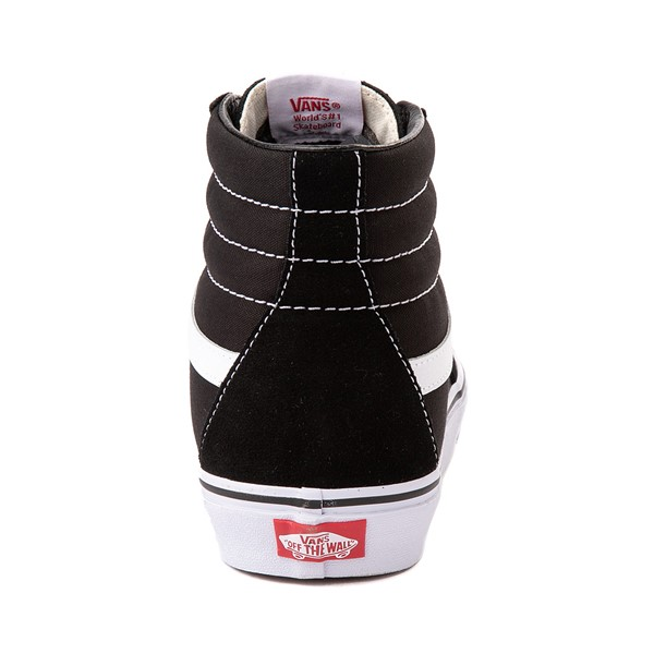 alternate image alternate view Vans Sk8 Hi Skate Shoe - Black / WhiteALT4