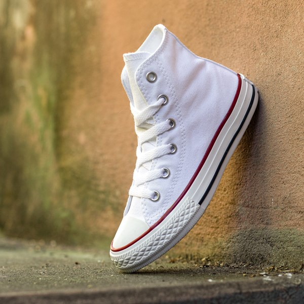 alternate image alternate view Converse Chuck Taylor All Star Hi Sneaker - Little Kid - Optic WhiteALT1C