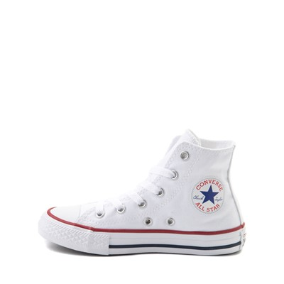Alternate view of Converse Chuck Taylor All Star Hi Sneaker - Little Kid - Optic White