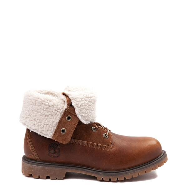 Womens Timberland Fleece Roll Down Boot - Tobacco