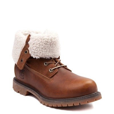 Alternate view of Womens Timberland Fleece Roll Down Boot - Tobacco