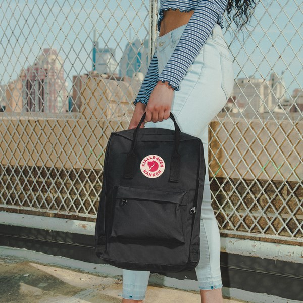 alternate image alternate view Fjallraven Kanken Backpack - BlackB-LIFESTYLE1