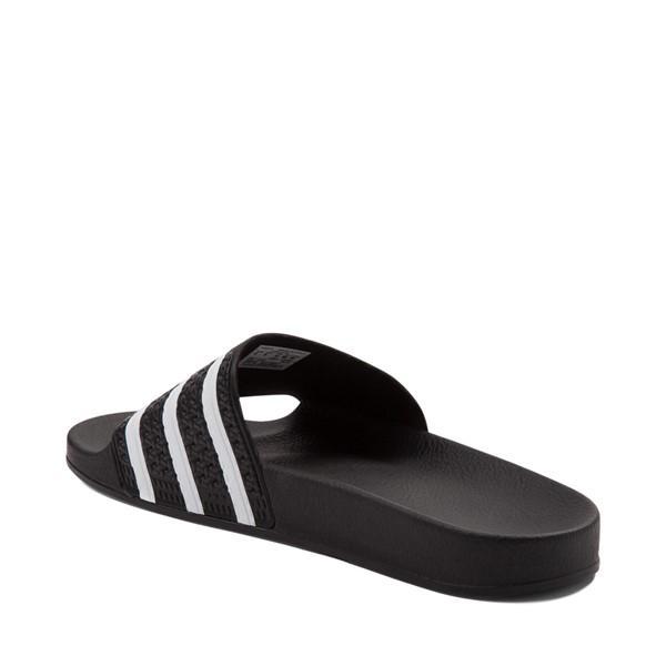 alternate view adidas Adilette Athletic Sandal - Black / WhiteALT1