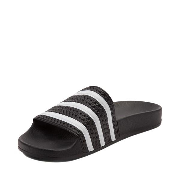 alternate view adidas Adilette Athletic Sandal - Black / WhiteALT2