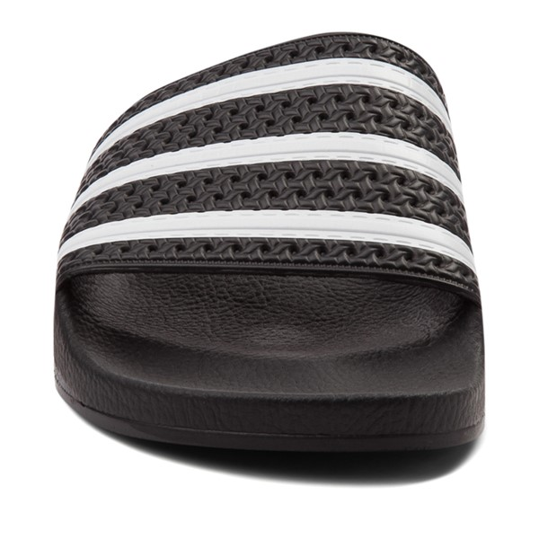 alternate view adidas Adilette Athletic Sandal - Black / WhiteALT4
